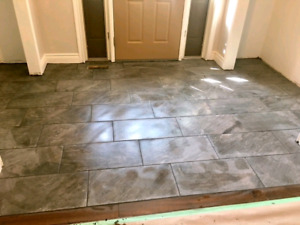 Tile installer available now