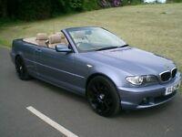 BMW 318Ci Convertible 2.0 manual 53reg'd Exc cond 90k miles FSH (13nos) Full mot Tan Leather Aircond