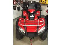 2015 TRX680FAF WITH PLOW, WINCH, HEATED GRIPS, TRUNK -SAVE $1160