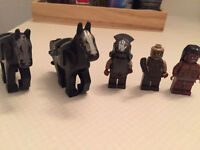 Lego Horses and Figures
