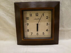 Seth Thomas Square Resin Wall Clock Quartz Movement with Parchment Dial 12 $129