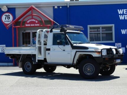 2013 Toyota Landcruiser VDJ79R MY13 Workmate White 5 Speed Manual Cab Chassis Welshpool Canning Area Preview