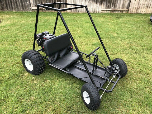 New Custom Built Go-Kart For Sale: Black, 6 1/2 HP, Two Seater