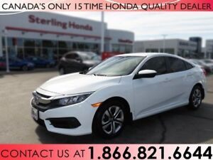 2018 Honda Civic Sedan LX | TINT | PROTECTION PKG. | LOW KM'S