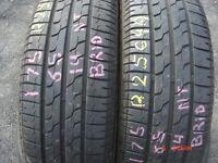 175 65 14 Bridgestone,B391, 82T, x2 A Pair 6.5mm(450-458 Barking Road,E13 8HJ) Part Worn