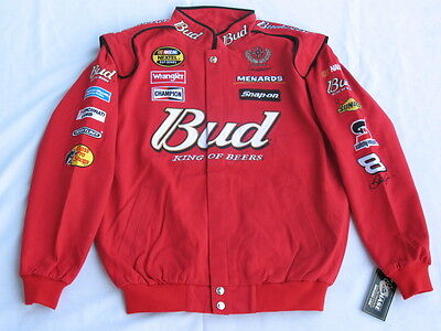 Dale Earnhardt Jr  Budweiser Nascar Jacket By Chase  Sizes  M  L Or Xl