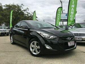 2011 Hyundai Elantra MD Elite Black 6 Speed Semi Auto Sedan Southport Gold Coast City Preview