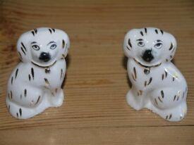 Porcelain Staffordshire Dogs