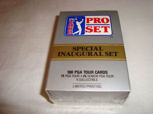 1990 SEALED PGA TOUR PRO SET SPECIAL INAUGURAL OF 100 GOLF CARDS