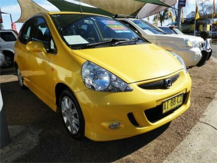 2005 Honda Jazz GD MY05 VTi S Yellow 7 Speed Constant Variable Hatchback