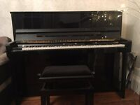 Wilhelm Schimell Upright Black Gloss Piano - As New Condition