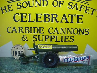 Kyпить NEW IN BOX 60MM BIG BANG CANNON BANGSITE CALCIUM CARBIDE CAST IRON CONESTOGA TOY на еВаy.соm