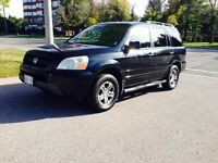 2004 HONDA PILOT EXL SUV / 4WD / LEATHER / LOW KMS / BLACK