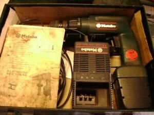 metabo 12v drill kit with bonus 9v drill