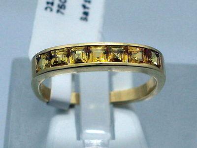 GELBER SAFIR DESIGN RING IN 750 GELBGOLD Gr52 -RB- LUXUS PUR PRINCESS CUT Z288 (Gelber Princess-cut Diamant-ring)