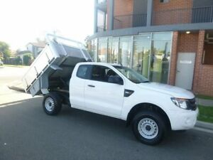 2014 Ford Ranger PX XL Super Cab 4x2 Hi-Rider White 6 Speed Sports Automatic Cab Chassis Merrylands Parramatta Area Preview