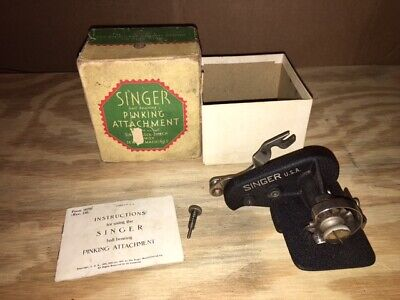 Singer Pinking Attachment 1930's Featherweight 221 Simanco 121021 SEE VIDEO