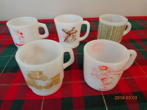 5 Vintage Mugs for $10.00!    3 Are Fire King!