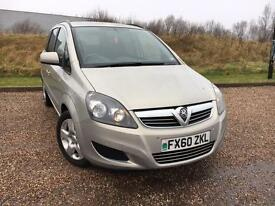 VAUXHALL ZAFIRA 1.7 CDTI EXCLUSIVE MANUAL DIESEL 2010/60 *LOW MILES, FSH*