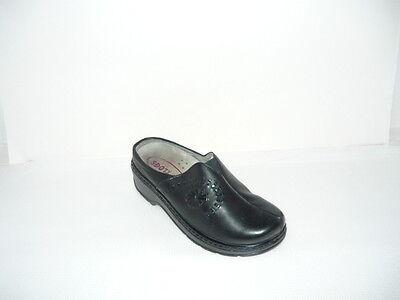 KLOGS Black Boca Leather Slip Resistant slip On Clogs Women's Size 10M