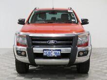 2014 Ford Ranger PX Wildtrak 3.2 (4x4) Orange 6 Speed Automatic Crewcab Jandakot Cockburn Area Preview