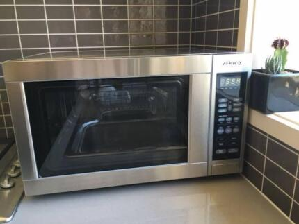 SMEG Stainless Steel Microwave - Good Condition