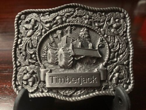 Timberjack Belt Buckle Floral Leaves Acorns 550 Skidder Very Sturdy and Detailed