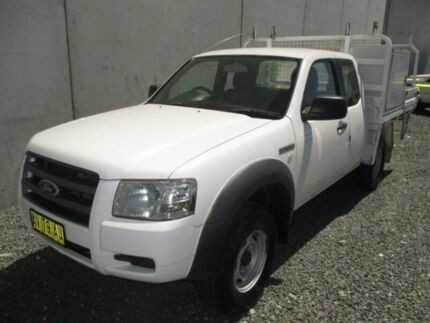 2008 Ford Ranger PJ XL Super Cab 4x2 Hi-Rider White 5 Speed Manual Cab Chassis Broadmeadow Newcastle Area Preview