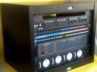 "19"" RACK CABS CABINETS, HEAVY STEEL TYPE. UK MADE. TWO LEFT Other rack items mixers graphics amps++"