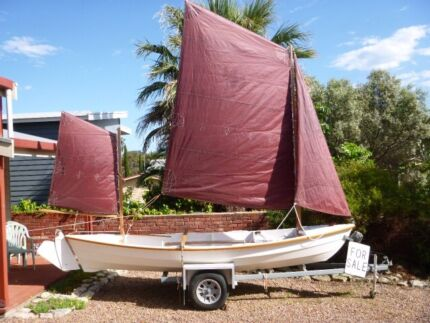 Sail and oar Double ended yawl