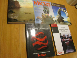Selling first and second year Seneca college textbooks