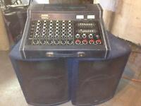 YAMAHA MIXER AND 2 SPEAKERS