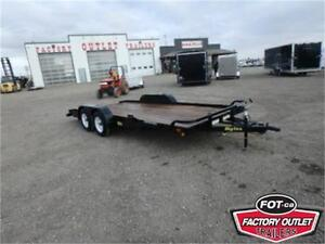 7 x 18 Open Car Hauler by Big Tex Trailers - 7,000# GVWR *RAMPS*