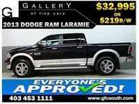 2013 DODGE RAM LARAMIE CREW *EVERYONE APPROVED* $0 DOWN $219/BW