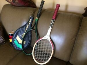 Tennis rackets, carry on bag and balls