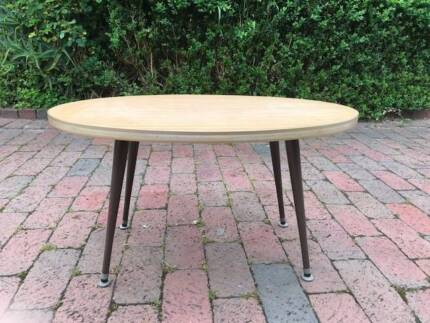 FREE DELIVERY Rare Oval Danish Unique solid wood coffee table!