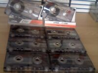TDK D C46 & C60 CASSETTE TAPES x 8 USED IN GOOD CONDITION. BATCH P.