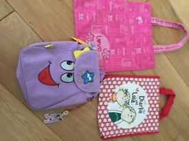 A bundle of children's bags
