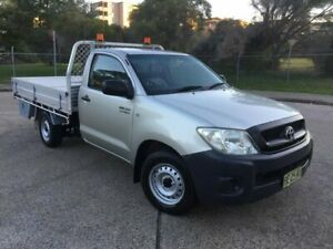 2009 Toyota Hilux TGN16R 09 Upgrade Workmate Silver 4 Speed Automatic Cab Chassis Homebush West Strathfield Area Preview