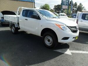 2013 Mazda BT-50 UP0YF1 XT White Manual Cab Chassis Mudgee Mudgee Area Preview
