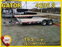 WINTER CLEARANCE**   NEW Galvanized Car Hauler 16' 7000pounds
