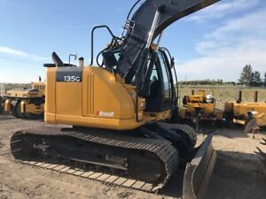 2014 John Deere 135G LC Excavator for Rent with Thumb & Blade