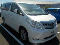 FRESH IMPORT NEW SHAPE LATE 2008 TOYOTA ALPHARD AUTOMATIC 7 SEATER PEARL WHITE