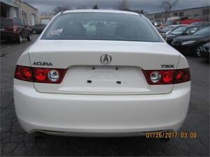 2004 ACURA TSX PREMIUM (WHITE ON BLACK.