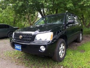 2003 Toyota Highlander Certified,Body as is,*see details