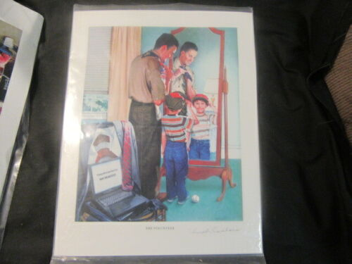 The Volunteer, Csatari Boy Scout Print, Signed     cp