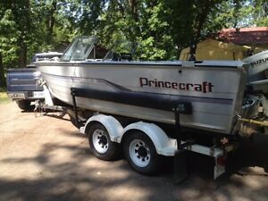 1988 Princecraft Pro Serie 196 with twin engine, deep V