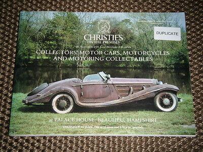 CHRISTIES AUCTION CATALOGUE JULY 1988 BEAULIEU ROLLS ROYCE SILVER GHOST BSA