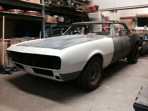 1967 Camaro RS Convertible rolling shell