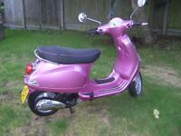 Limited edition Vespa in perfect condition garaged since 2012, great scooter/bargain